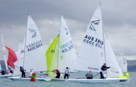 Just one race was held in light Easterly breezes between 5–8 knots