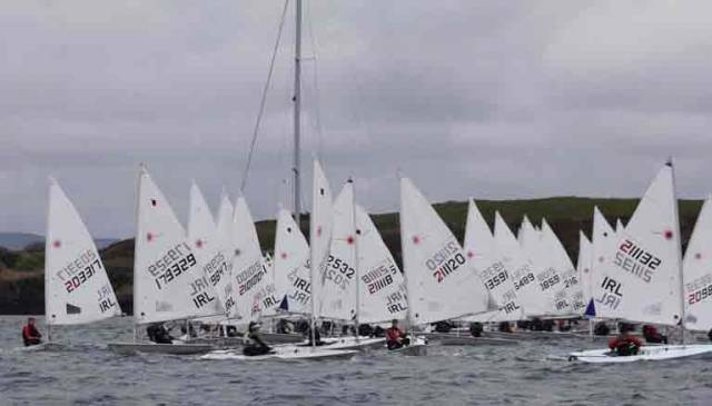 There was a 125 boat turnout at Baltimore Sailing Club for the Laser Munster Championships