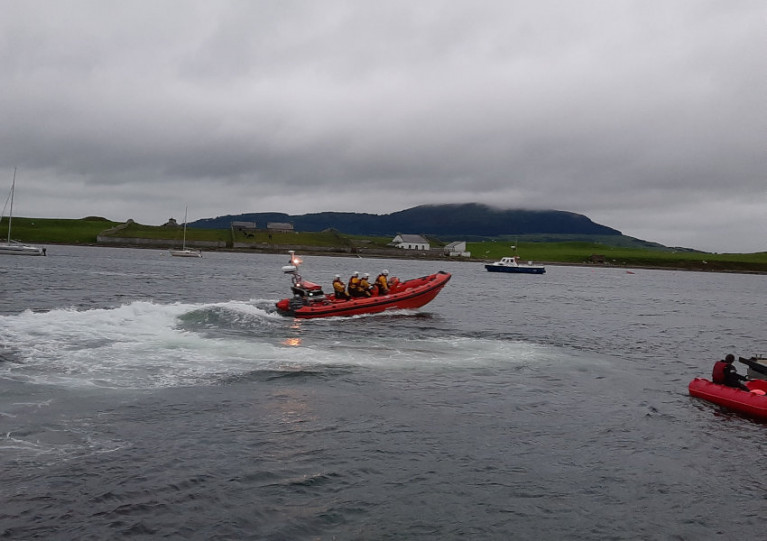 Sligo Bay Lifeboat Launches To Lone Surfer Ahead Of Storm Ellen