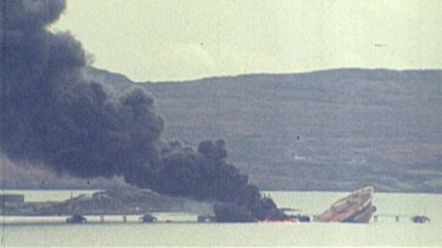 The Betelgeuse caught fire and exploded in Bantry Bay on 8 January 1979