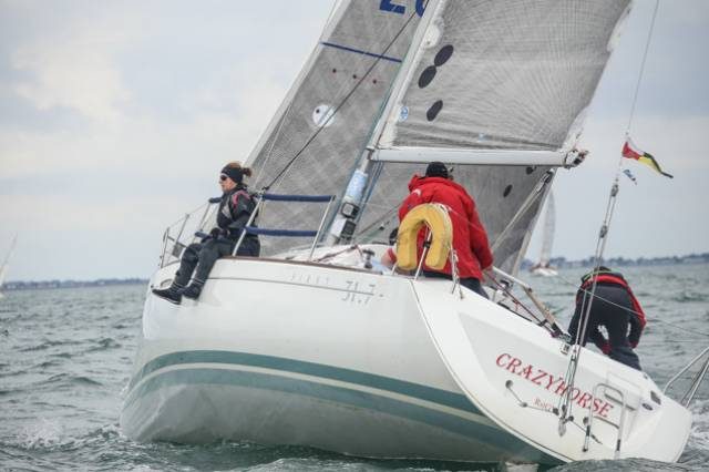 Beneteau 31.7 Crazy Horse (F Heath & I Schuster) was a DBSC class winner