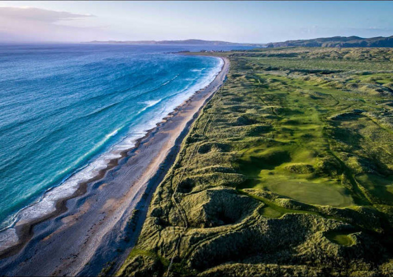 Aerial view of Ballyliffin Golf Club