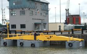 The Sea Power device has been in development for eight years and will soon make the short journey from Foynes in Limerick, where it was built, to the Galway Bay test site
