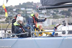 The National Yacht Club's Willie Despard (standing with mainsheet) joins Andrew Hall's J121 JackHammer crew for the Middle Sea Race this Saturday