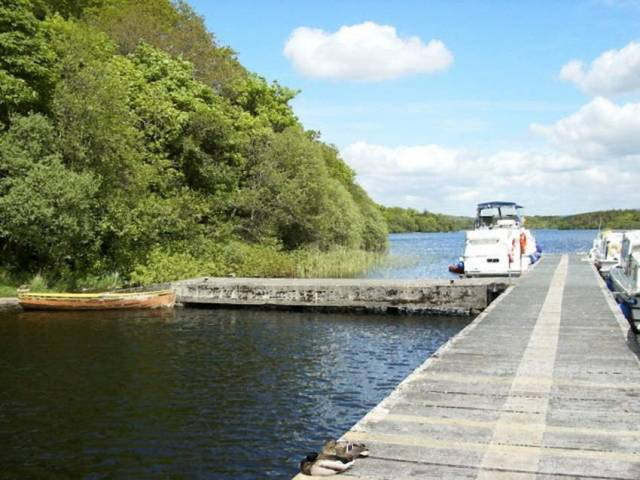 Drummans canal is close to the Waterways Ireland marina at Drummans Island pictured here