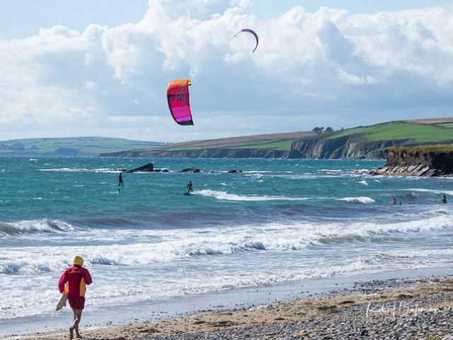Kinsale Kitesurfers Enjoy Great Conditions at Garrylucas