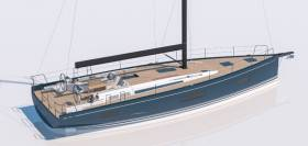 Artist's impression of the new Beneteau First Yacht 53, which debuts at Cannes this autumn