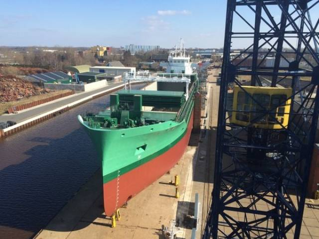 Arklow Valiant, the newest vessel of Arklow Shipping which this year marks the company's fifth decade of operation