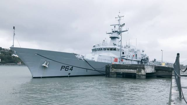 Naval Service Latest Newbuild LÉ George Bernard Shaw Makes Delivery Voyage to Cork Harbour