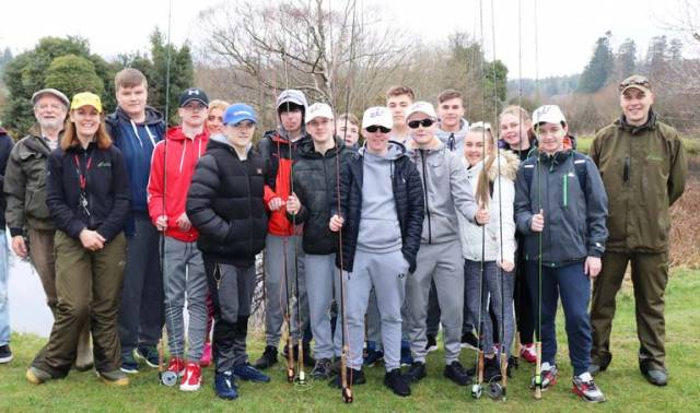 Transition year students from Christian Brothers School (CBS) James Street, Dublin 8, after their recent successful completion of the second annual Angling Adventure fly fishing project
