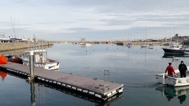 Competitors were greeted with a mirror-like seascape inside Dun Laoghaire harbour