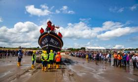 Clogherhead RNLI's new Shannon class lifeboat is launched. The boat is unique in the RNLI's fleet as it has been funded by an Irish legacy
