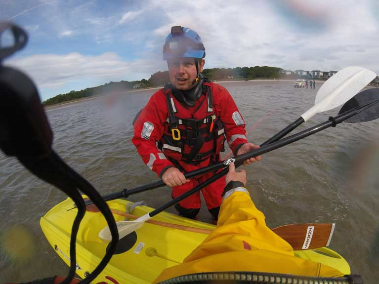 RNLI Rescue Young Kayakers on Belfast Lough