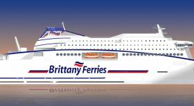 Brittany Ferries announce letter of intent for a new ferry with the same German yard that is constructing ICG's new €144m cruiseferry for Irish Ferries. The announcement from the French operator to have the cruiseferry powered by LNG will be their first such vessel and confirms a commitment to improve on reducing harmful sulphur emissions which has led to the Cork-Roscoff flagship Pont-Aven fitted with 'scrubbers' last year.