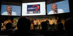 Enda O'Coineen addresses the media at this week's Vendee Globe press conference in Paris
