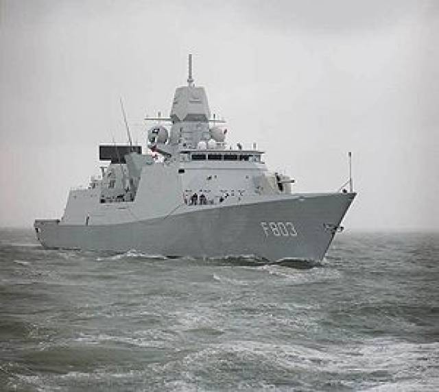 HNLMS De Ruyter docked in Dublin Port this morning. The De Zeven Provinciën-class frigate of the Royal Netherlands Navy is to be joined by a sister, HNMLS Tromp on Sunday.