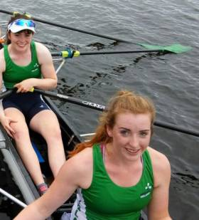 Claire Feerick and Emily Hegarty of the Ireland women's eight.