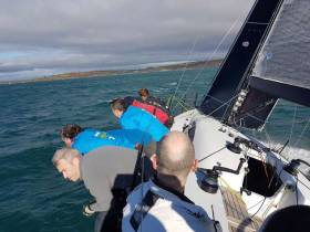 Prof O'Connell's view on board Jump on their way to victory in the 2017 RCYC League