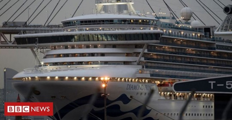 After 16 days of quarantine, British and Irish nationals disembarked the Diamond Princess in Japan by coach for a flight to the UK that arrived this evening.
