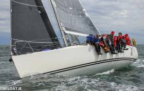 Three race wins sets John Maybury's J109 Joker II up for a successful defence of her Class One title on Dublin Bay tomorrow. Onboard Joker II is Crosshaven 2004 Olympian Killian Collins. Victory tomorrow would give the RIYC skipper four wins in a row of the ICRA title