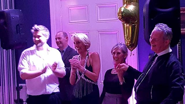 Celebrations at the National Yacht Club where Dun Laoghaire sailors Niall Meagher and Bernie Mulvin were Dance Competition winners