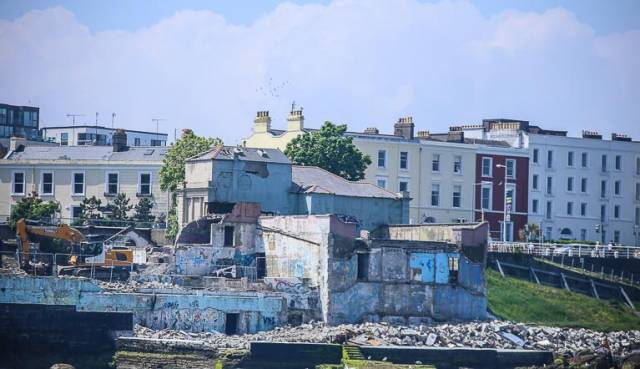 Demolition work at the old Dun Laoghaire Baths site has commenced