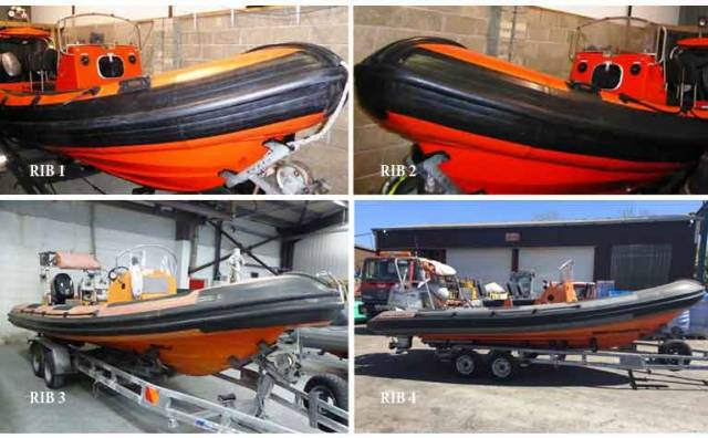 Public Auction of Six RIBs: 3 x Red Bay 6.5m, 2 x XS RIB 7m & 1 x RIB 350 & a Jet Ski