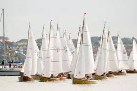 Mermaids line up for a start at the 2012 National Championships hosted by Skerries Sailing Cl