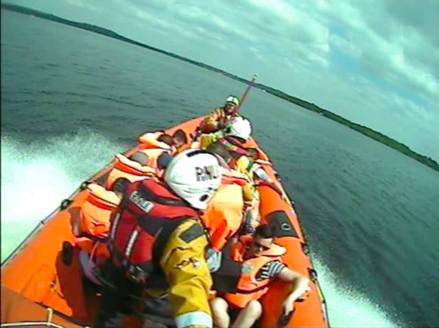 Lough Derg RNLI rescued nine people from a cruiser this afternoon