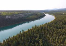 The Yukon River flows through some of the world's most remote wilderness