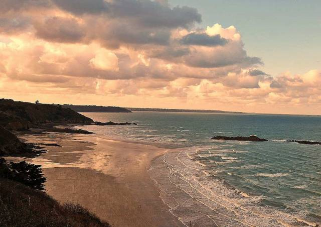 The Bay of Saint-Brieuc in Brittany