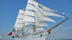 Mexican sail training tall ship Cuauhtémoc is in Belfast this weekend