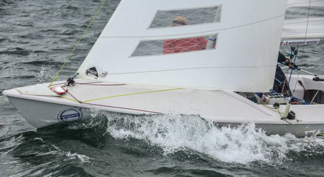 Large Turnout in Flying Fifteen DBSC Series Race