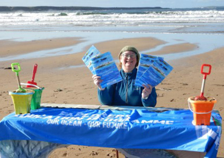 Explorers outreach officer Carmel Madigan at Spanish Point beach