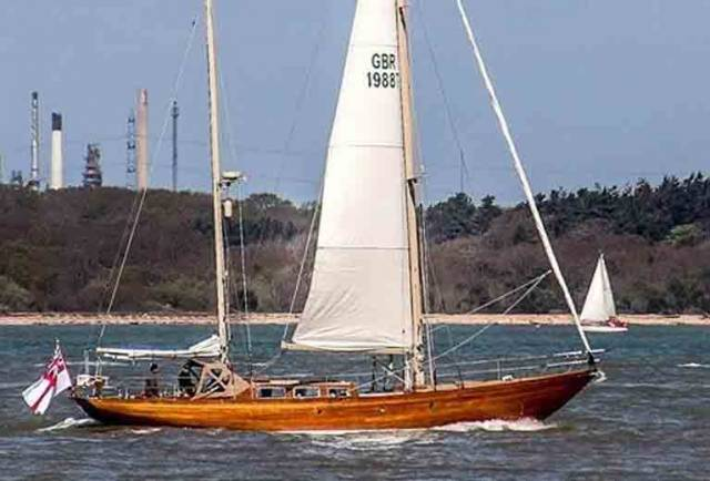 Local West Cork yacht Cuilaun of Kinsale, a 54 ft McGruer Ketch, is heading for the Glandore Classic Boat Festival on July 23rd