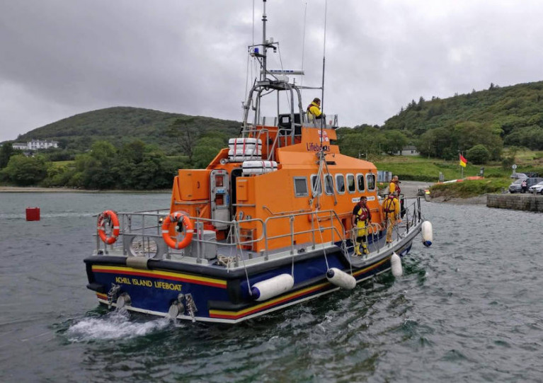 Achill Island RNLI's lifeboat Sam and Ada Moody