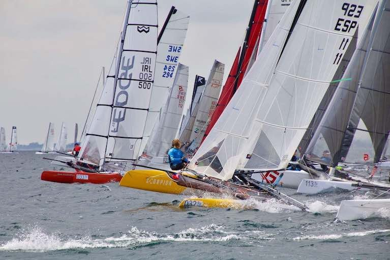 Multihull action on Belfast Lough
