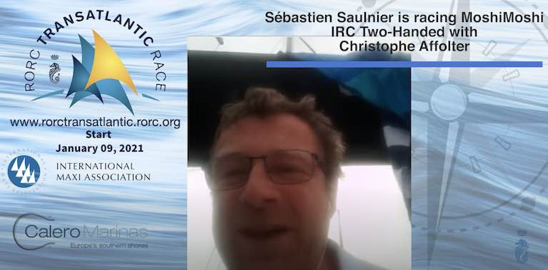 Sebastien Saulnier speaks about racing two handed across the Atlantic in the Sunfast3300 this weekend in the video below