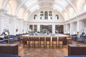 The former Drawing Office at the Titanic Hotel, Belfast. Afloat adds they are the oldest part of the former shipyard buildings that date from the Victorian era when Edward Harland and Gustav Wolff were the principal designers.