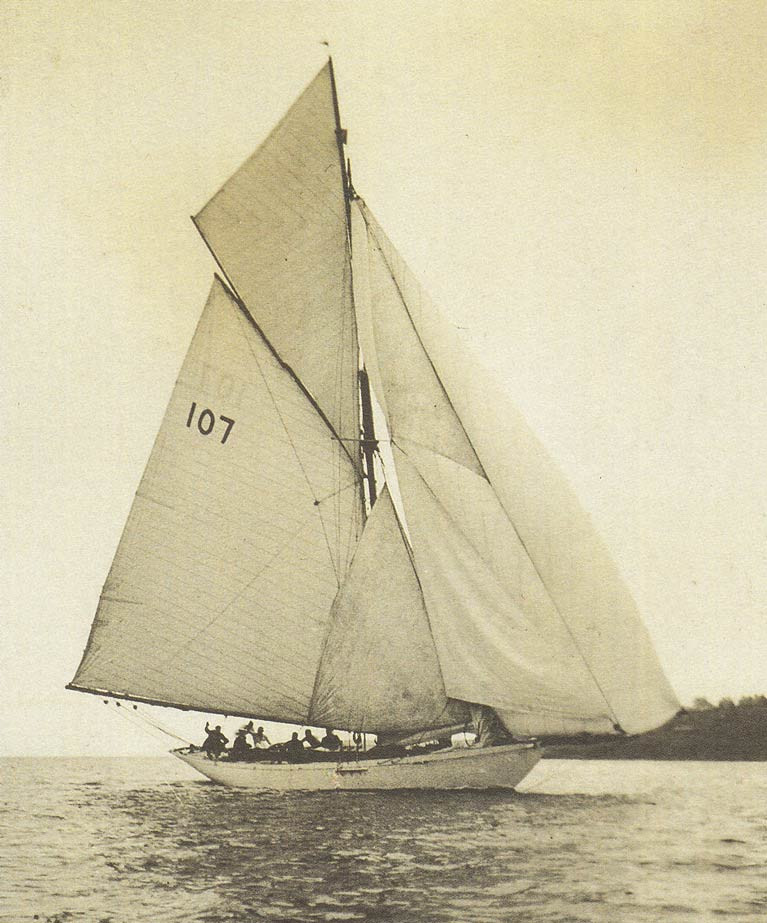 A handsome ship with a mighty spread of canvas – the 18-ton 1896-built Gull in Harry Donegan's ownership