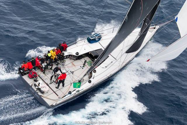 The successful Australian Botin 52 Ichi Ban, a TP 52 variant, has seen Irish sailor Gordon Maguire (seen here on helm) much involved both as sailing master and during the design, build and development stages with owner Matt Allen. Ichi Ban is now on the three-boat short-list for the World Sailing 2019 Goslings Boat of the Year, the winner to be announced on October 29th