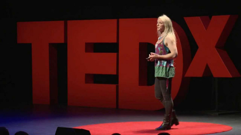 Easkey Britton at her TEDxDublin talk in 2013
