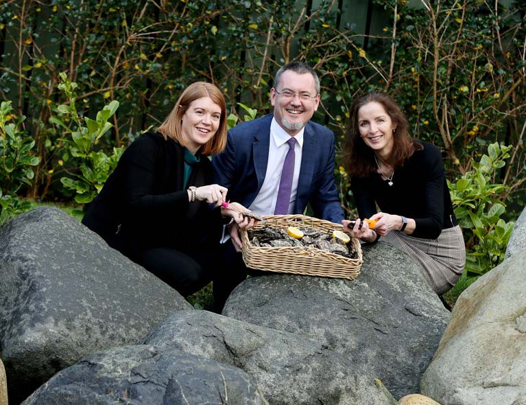 Oystercatchers - From left to right Teresa Morrissey, IFA Aquaculture, BIM's chief executive, Jim O'Toole and Patricia Daly, BIM