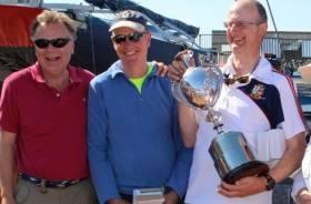David Williams, Neil Hegarty and Peter Bowring are the new Irish Dragon Champions