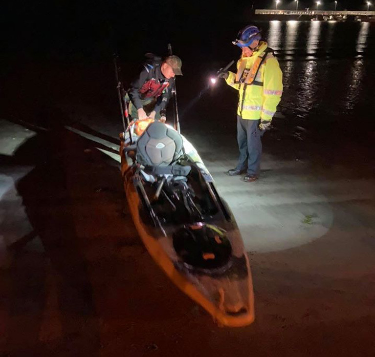 On Thursday evening the Coastguard and the Police Service investigated reports of concern for a kayaker seen the Ballywalter area of County Down