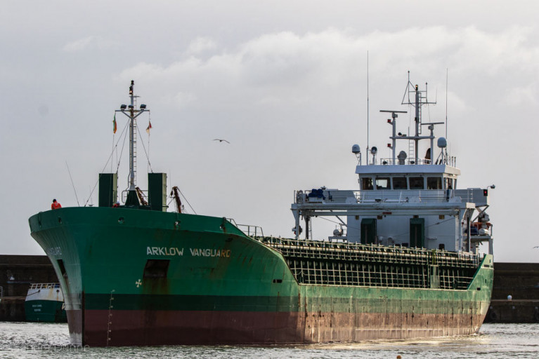 Rare Call of Arklow Shipping Cargoship to Neighbouring Wicklow Port