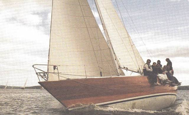 Irish Mist II, the 40ft Ron Holland design built in Cork in 1975, in which the late Archie O'Leary achieved his greatest successes. Photo courtesy RCYC