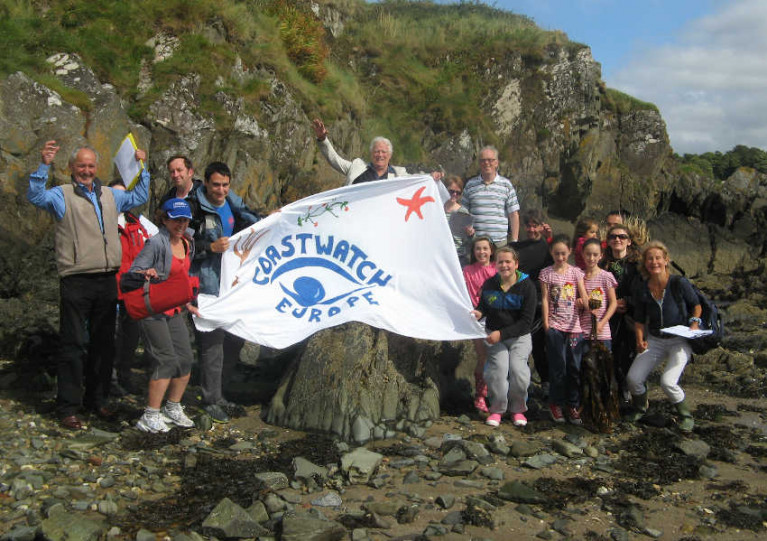 Volunteers at a previous Coastwatch Ireland survey