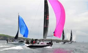Class Two yachts competing in the Provident Lambay Races