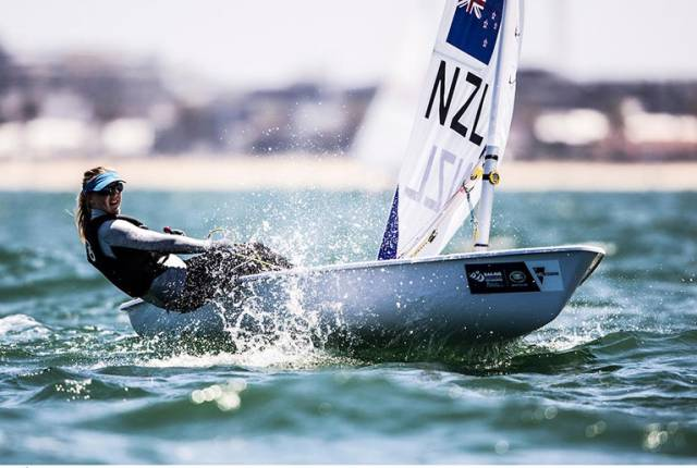 Susannah Pyatt from New Zealand is competing at Sail Melbourne
